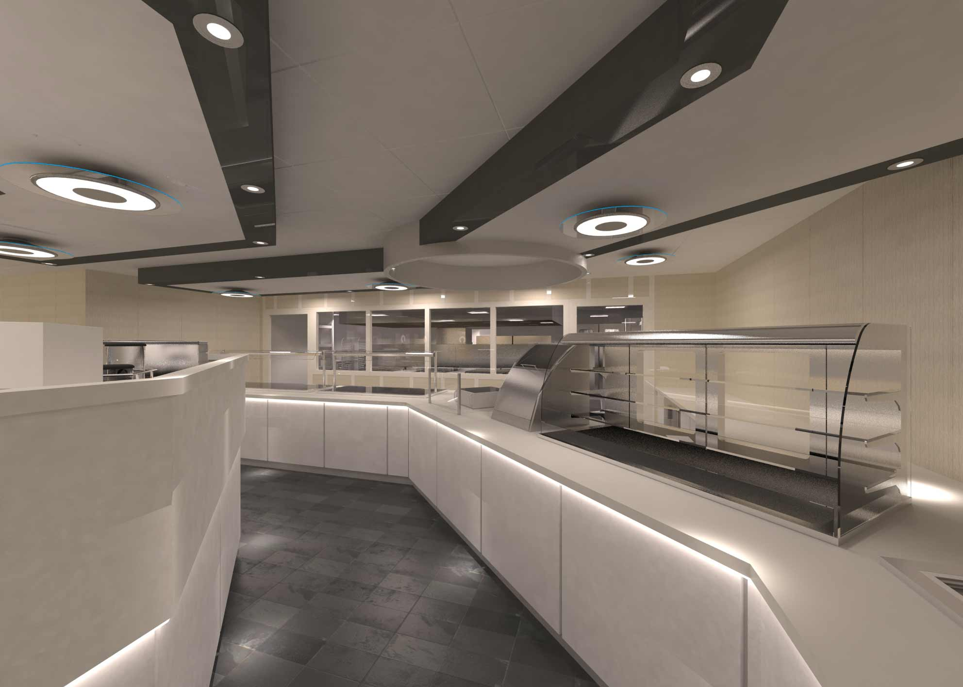 Golden Eagle dining and servery