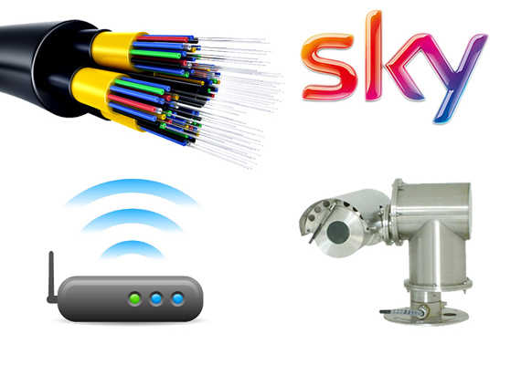 Installation of SKY, Wi-Fi, CCTV & fibre optics