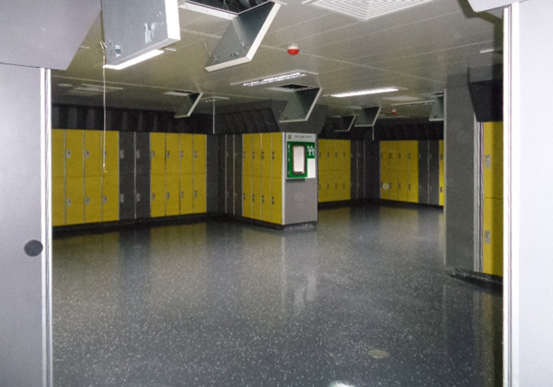 Clair Ridge lockers