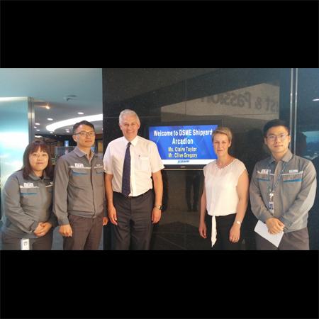 ARCADION visits DSME in South Korea
