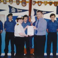 ARCADION's Jason Addley and Total's Elgin Platform support Perth Sea Cadets