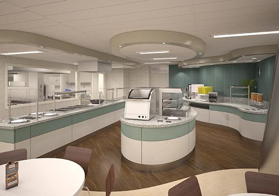 3D dining area visualisation